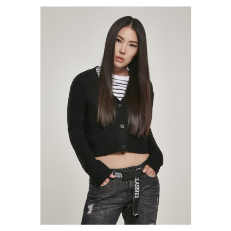 Ladies Short Cardigan - black Urban Classics
