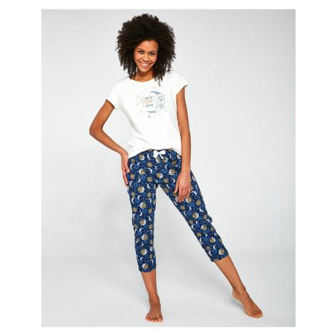 Trojdílné dámské pyžamo Cornette 388/203 Moon kr/r okrová