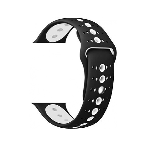 Eternico Apple Watch 42mm / 44mm Silicone Polkadot Band černo bílý