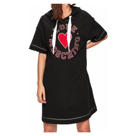 Černé bavlněné šaty LOVE MOSCHINO