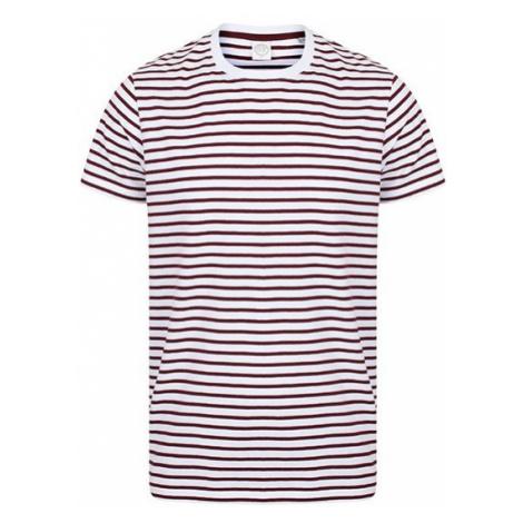 Pruhované tričko Bílo-Burgundy SF - unisex
