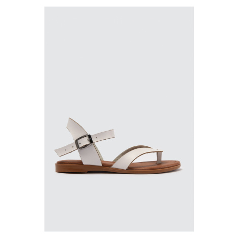 Trendyol White Genuine Leather Women Sandals