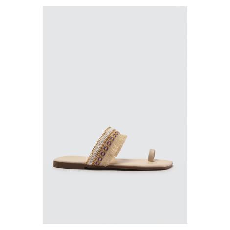 Trendyol Beige Women's Slippers