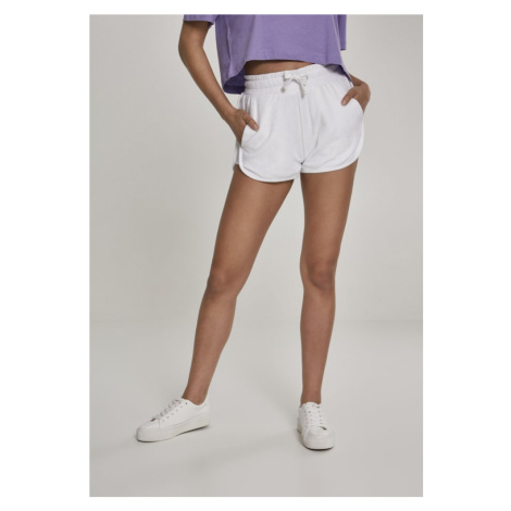 Ladies Towel Hot Pants - white Urban Classics