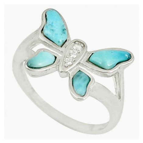 AutorskeSperky.com - Stříbrný prsten s larimarem - S3767