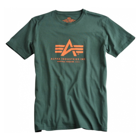Alpha Industries Tričko Basic T-Shirt petrolejové