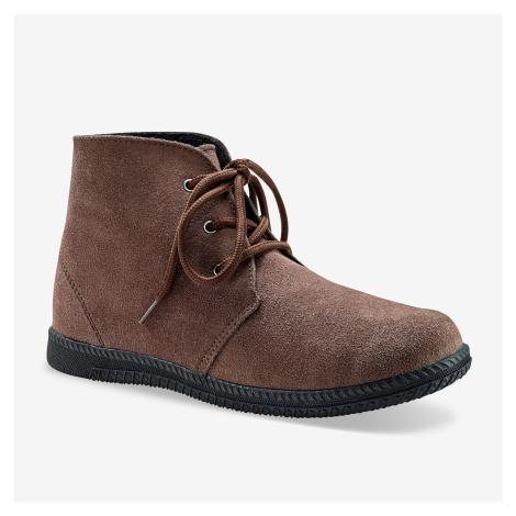 Blancheporte Kotníkové boty na zavázání kaštanová