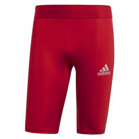 adidas ALPHASKIN SPORT SHORT TIGHTS červená - Pánské spodní trenky
