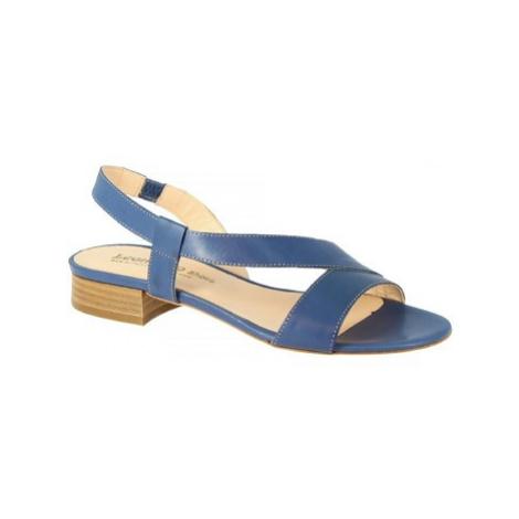 Leonardo Shoes 3140 VITELLO COBALTO Modrá