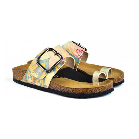 Calceo žluté pantofle Thong Sandals Mandala