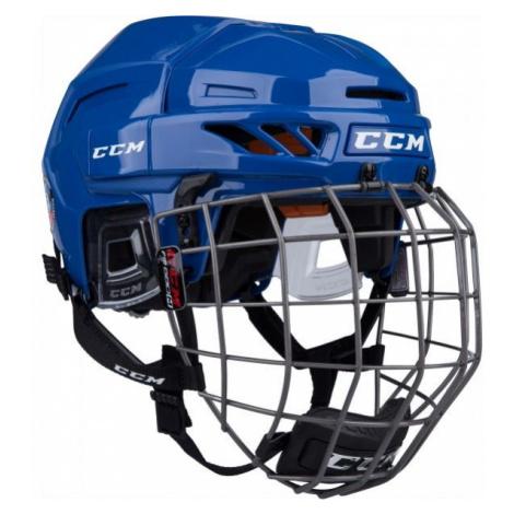 CCM FITLITE 90 COMBO SR tmavě modrá - Hokejová helma