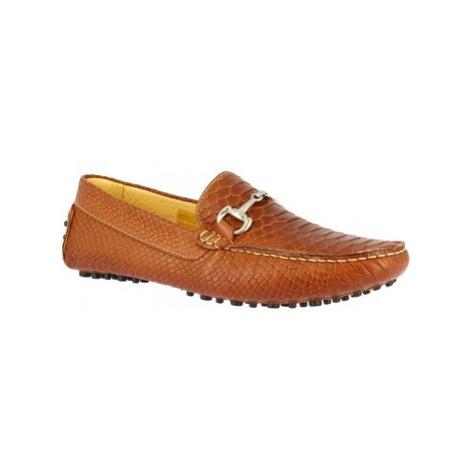 Leonardo Shoes 504 COCCO CUOIO Hnědá