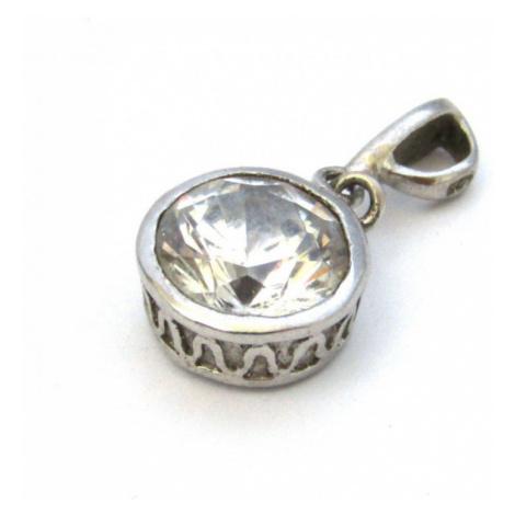 AutorskeSperky.com - Stříbrný přívěsek s kříšťálem - S1345
