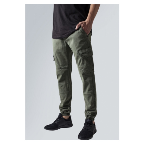 Washed Cargo Twill Jogging Pants - sand