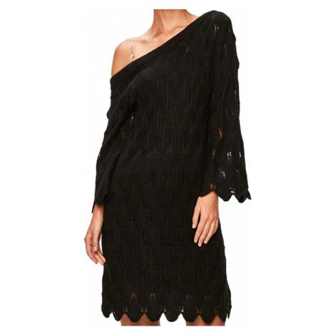 Černé pletené šaty PATRIZIA PEPE