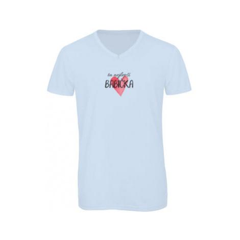 Pánské triko s výstřihem do V Ta nejlepší babička