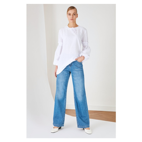 Trendyol Blue Wide Leg High Waist Jeans