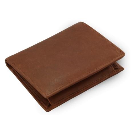 Tmavě hnědá pánská kožená peněženka Charlie Arwel