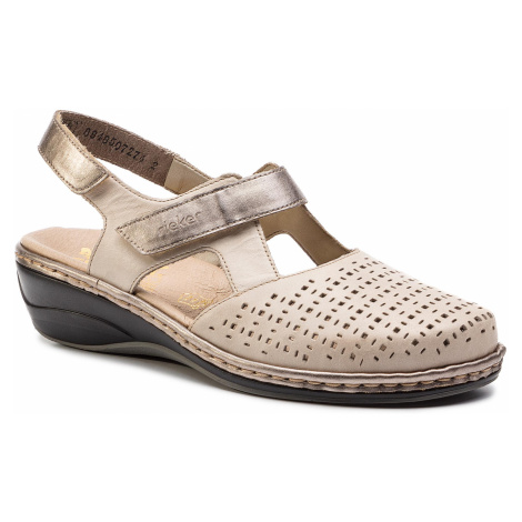 Sandály RIEKER - 47775-42 Grau Kombi