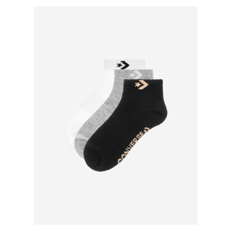 Ponožky Converse 3Pp Women'S Star Chevron Logo, Flat Knit Barevná