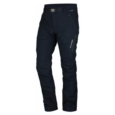 NORTHFINDER JAVON Pánské softshellové kalhoty NO-3721OR269 černá