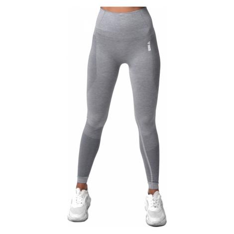 Dámské Legíny Boco Wear Sparkle Grey Melange Shape Push Up Šedá