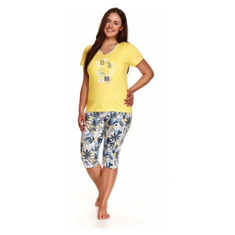 Dámské pyžamo 2186 DONATA 2XL-3XL Jaro 2021 žlutá Taro