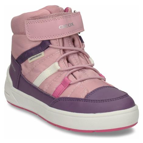 Růžovo-fialové dívčí zimní tenisky Geox