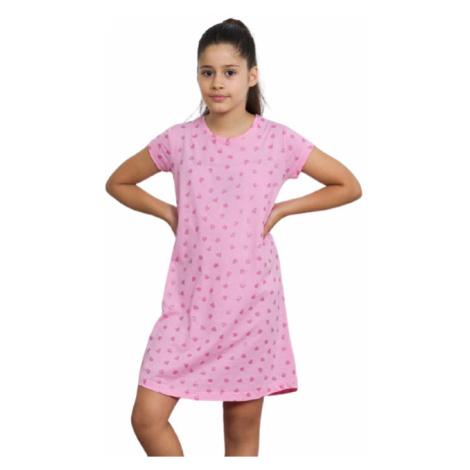 Dětská noční košile Vienetta Secret Srdíčka   růžová