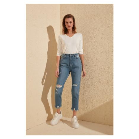 Dámské módní džíny Trendyol High Waist