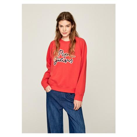 Pepe Jeans dámská červená mikina Bonnie