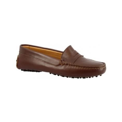 Leonardo Shoes 503 VITELLO T. MORO Hnědá