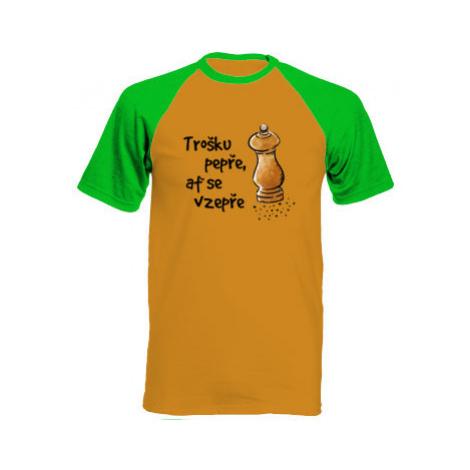 Pánské tričko Baseball Trošku pepře, ať se vzepře