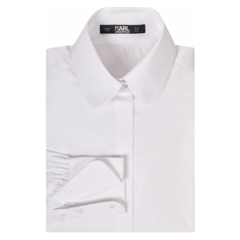 Košile Karl Lagerfeld Classic Karl Poplin Shirt - Bílá
