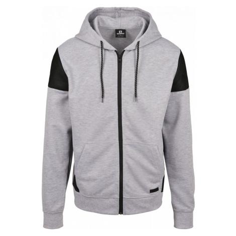 Neoprene Block Tech Fleece Full Zip Hoodie - heather grey Urban Classics