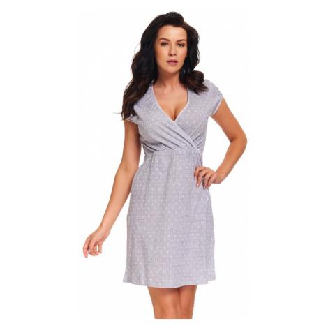 DN Nightwear Těhotenská a kojicí noční košile Amoresa srdíčka