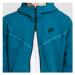 Nike M NSW Tech Fleece FZ Hoodie 2 Tone tmavě tyrkysová
