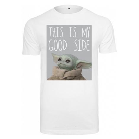 Mr. Tee Baby Yoda Good Side Tee white