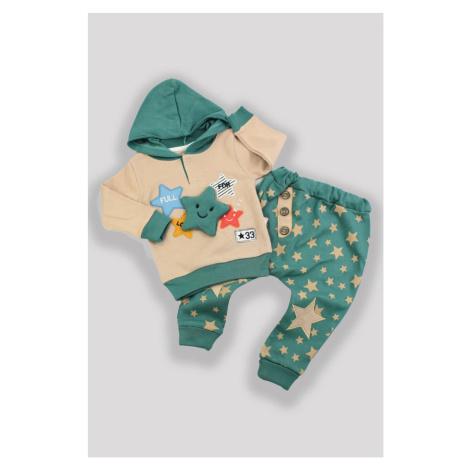 Dětské oblečení mikina s kapucí a kalhoty zelená
