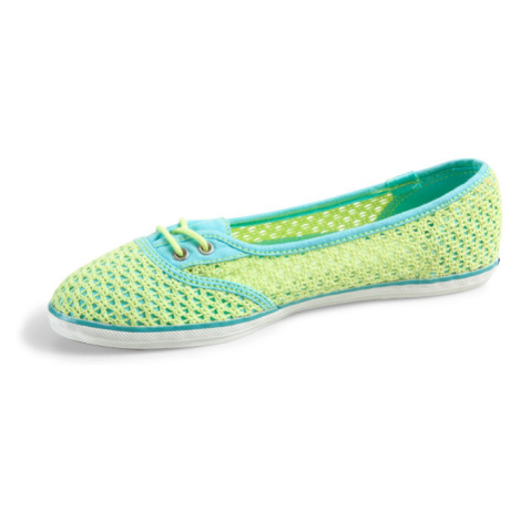 Too Cute Woven Crochet lime Keds