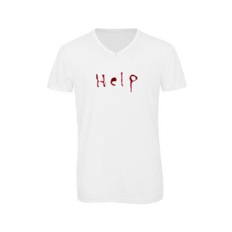 Pánské triko s výstřihem do V Help