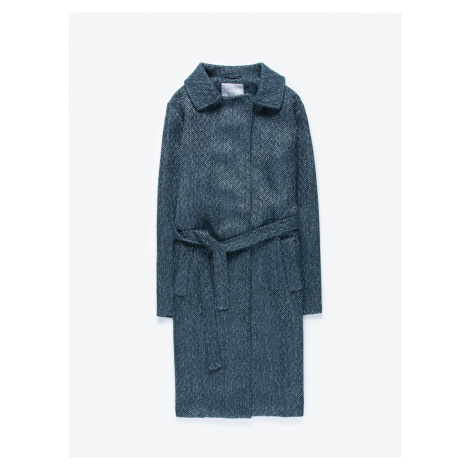 GATE Dlouhý kabát s páskem