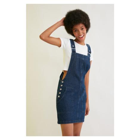 Trendyol Navy Blue Strap Denim Dress