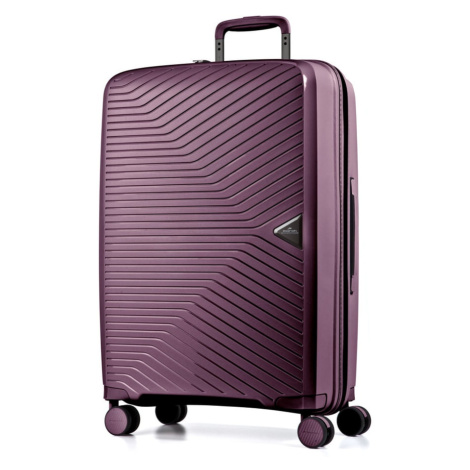 March Skořepinový cestovní kufr Gotthard 111 l - fialová