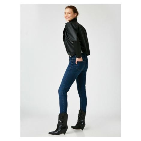 Koton Women's Blue Skinny Push Up Jeans