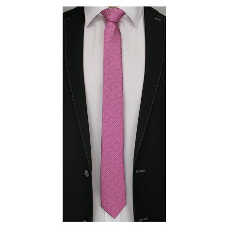 Vzorovaná růžová kravata
