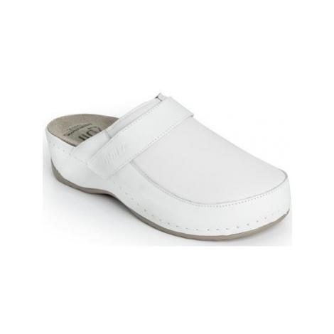 Batz Dámske kožené biele šľapky ELENA Bílá
