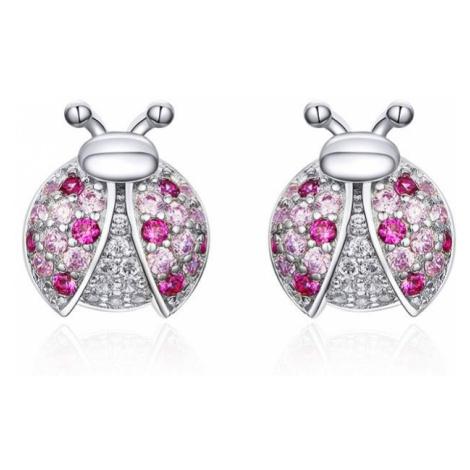 Linda's Jewelry Stříbrné náušnice se zirkony pecky Beruška IN101