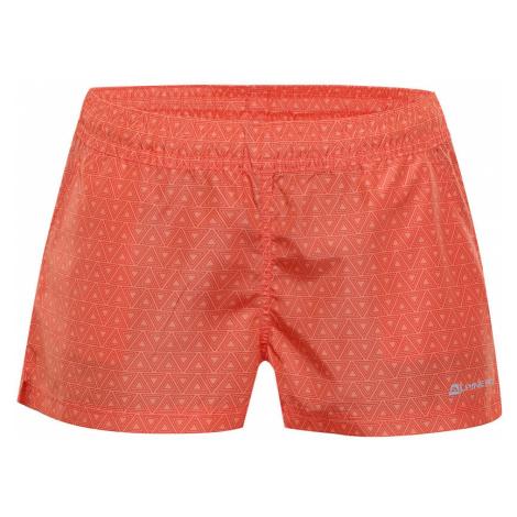 ALPINE PRO KAELA 2 Dámské šortky LPAN314339 tmavě oranžová