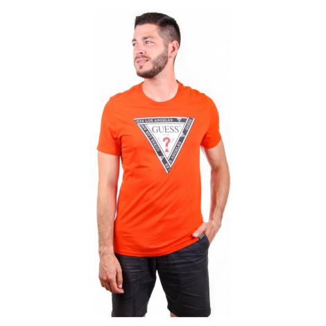 Guess pánské oranžové tričko